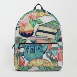 Lazy Afternoon - a chalk pastel illustration pattern Backpack
