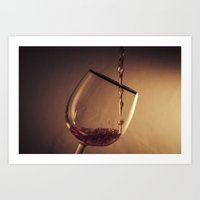 wine Art Prints featuring Wine by Thomas Dallapiccola