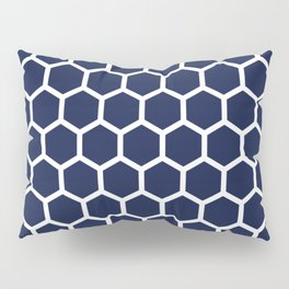 Navy Blue Honeycomb Minimal Pillow Sham
