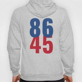 86 45 Anti Trump Impeachment T-Shirt / Politics Gift For Democrats, Liberals, Leftists, Feminists Hoody