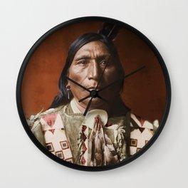 Little Hawk - Brulé - American Indian Wall Clock