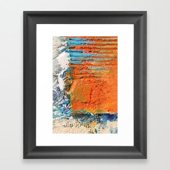 OPUS VARIAE I - Abstract mixed-media painting Framed Art Print