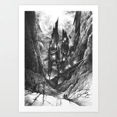 City in the far future Art Print