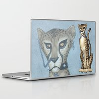 goth Laptop & iPad Skins featuring Goth Cheetah by Sinccolor