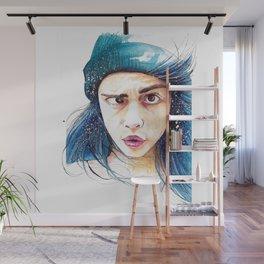 Cara and her weird eye thing Wall Mural