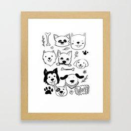 Doggy Doodles Framed Art Print