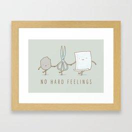 No Hard Feelings Framed Art Print