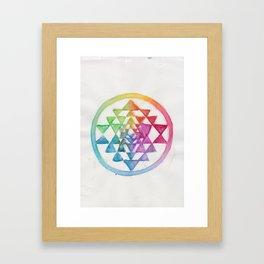 Prismatic Sri Yantra Framed Art Print