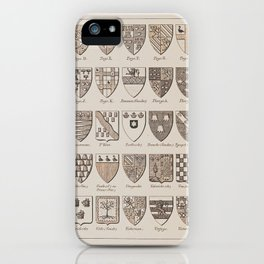 Legal Formalities & Traditions: Antique Law Crest & Shields Print iPhone Case