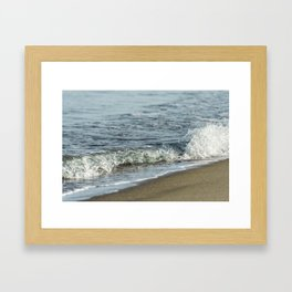 Sandy beach wave 0509 Framed Art Print