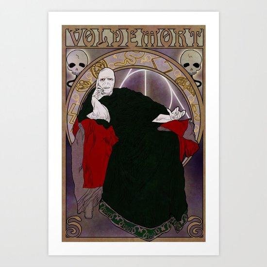 Tu sais qui - Lord Voldemort Art Print
