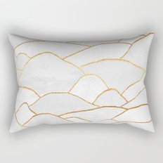 White Hills Rectangular Pillow