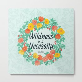 Floral Wildness Metal Print