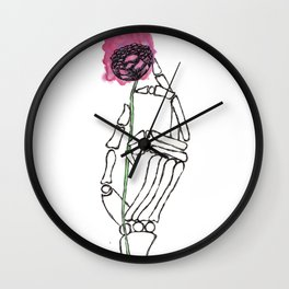 Life in the Hands of Death Wall Clock
