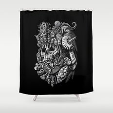 Mictlantecuhtli Shower Curtain