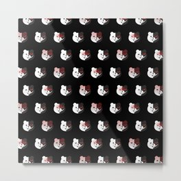 Monokuma Mood (Black) Metal Print