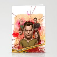 dexter Stationery Cards featuring Dexter by Nithin Rao Kumblekar