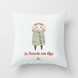La Becaria con Hipo Throw Pillow