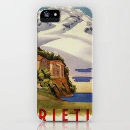 Rieti Sabina vintage Italian travel iPhone Case
