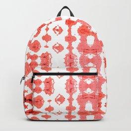 Coral Shibori Habatoi Ikat Backpack