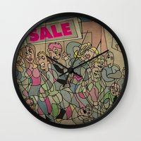 sale Wall Clocks featuring Sale by Matt Jeffs