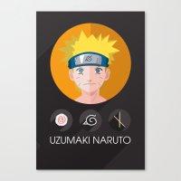 naruto Canvas Prints featuring naruto by pixel.pwn | AK