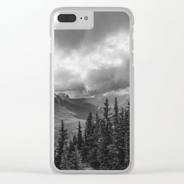 Banff Gondola Black and White Landscape | Photography Clear iPhone Case