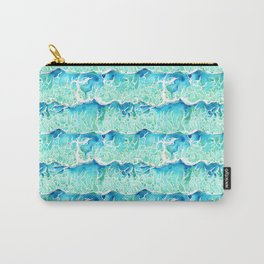 Waves of Paradise in Watercolor Carry-All Pouch