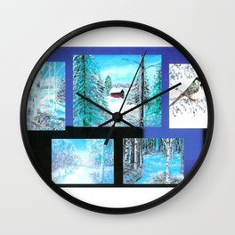 """ Winter Collage II "" Wall Clock"
