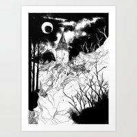 Transylvania Castle Art Print
