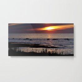 Surreal Seaside Sunset Metal Print