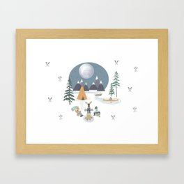 Camp Sleepy Moon (Large Print) Framed Art Print