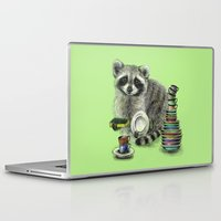 rocket raccoon Laptop & iPad Skins featuring Raccoon by Anna Shell