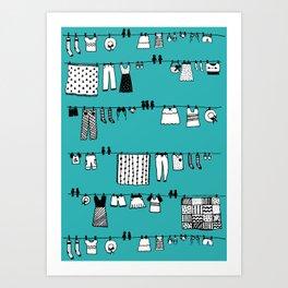 Laundry Doodle Art Print