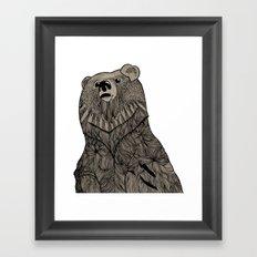 Beary Hairy Framed Art Print
