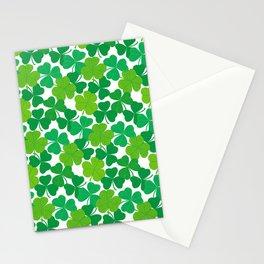 Shamrock Pattern Stationery Cards
