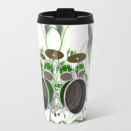 Drum Kit with Tribal Graphics Travel Mug