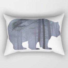Bear Silhouette Woods Country Home Decor Farmhouse Art A068b Rectangular Pillow