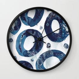 Going around in blue circles. Wall Clock