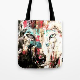Silverwolf, wolf, painting, wolfpack. Tote Bag