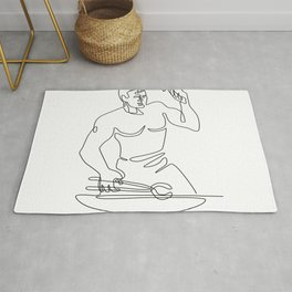 Blacksmith Hammer Continuous Line Rug