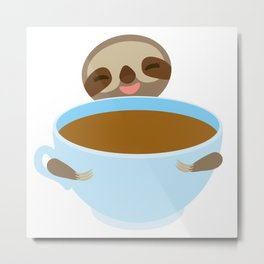 sloth & coffee Metal Print