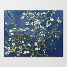 Almond Blossom - Vincent Van Gogh (dark blue) Canvas Print