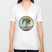 balance V-neck T-shirts featuring Balance by Vin Zzep