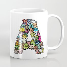 Alphabet A. Series of alphabet that suit your personality. Coffee Mug