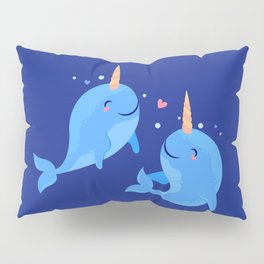 Sweet Narwhales Pillow Sham