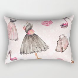 Black dress fashion #1 Rectangular Pillow