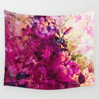 climbing Wall Tapestries featuring climbing  roses by clemm