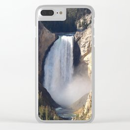 Lower Yellowstone Falls Clear iPhone Case
