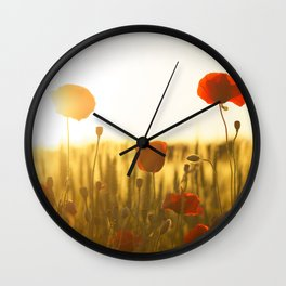 Sunset tulipe Wall Clock